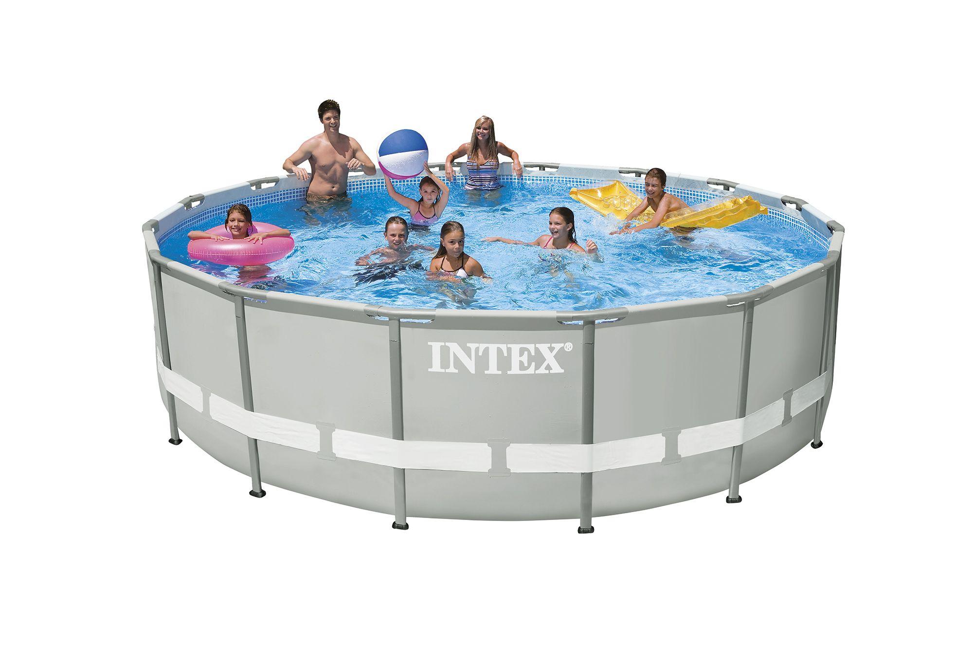 Каркасный бассейн Intex Ultra Frame 28328 488х122 см + фильтр-насос с хлоргенератором, картриджный фильтр, набор для ручной чистки, лестница, подстилка, покрывало