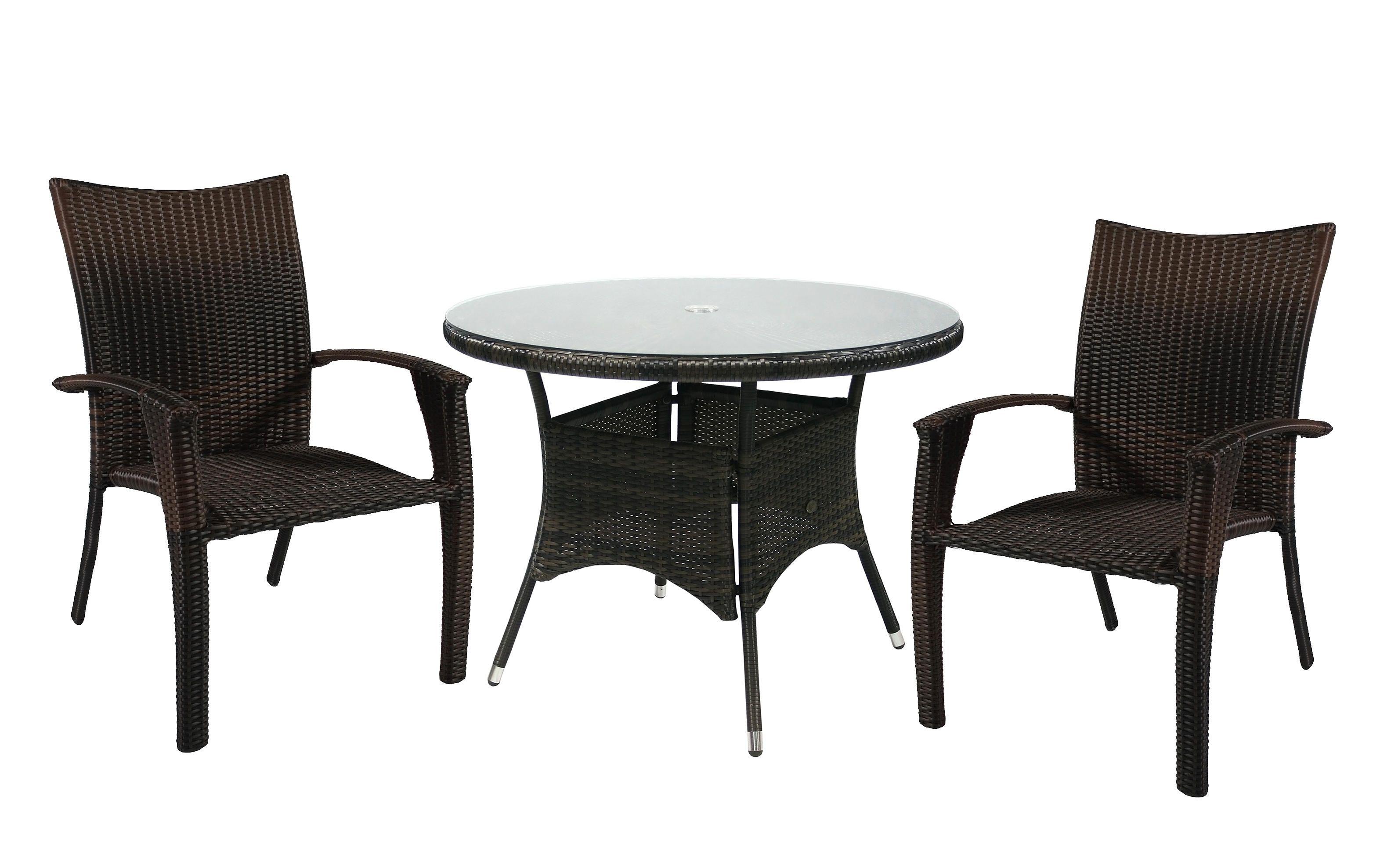 Комплект мебели WICKER Garden4you 13323, 12698  темно-коричневый