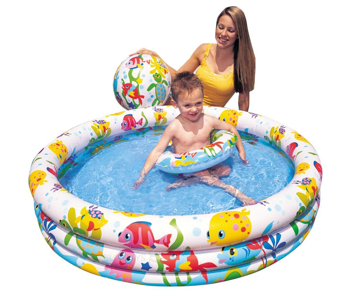 Купить Надувной (детский) бассейн Intex 59469NP 132х28 см + надувной мяч, надувной круг