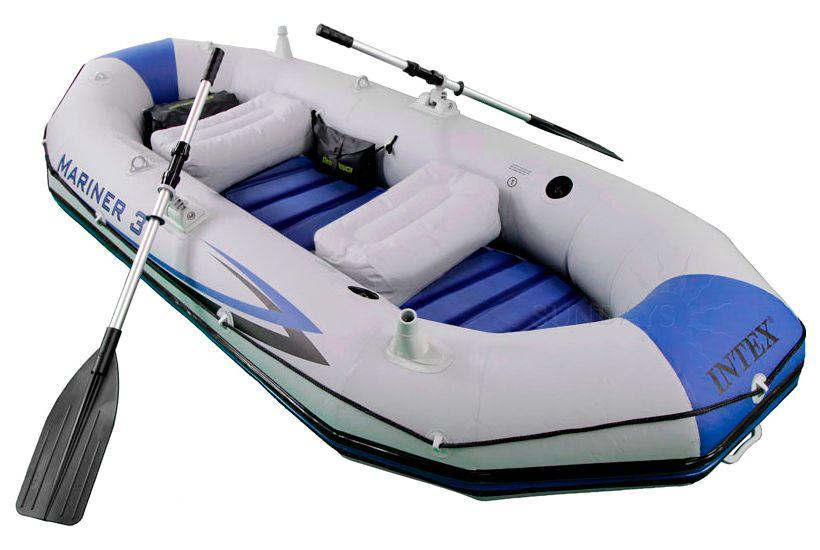 надувные лодки пвх с надувным дном интекс