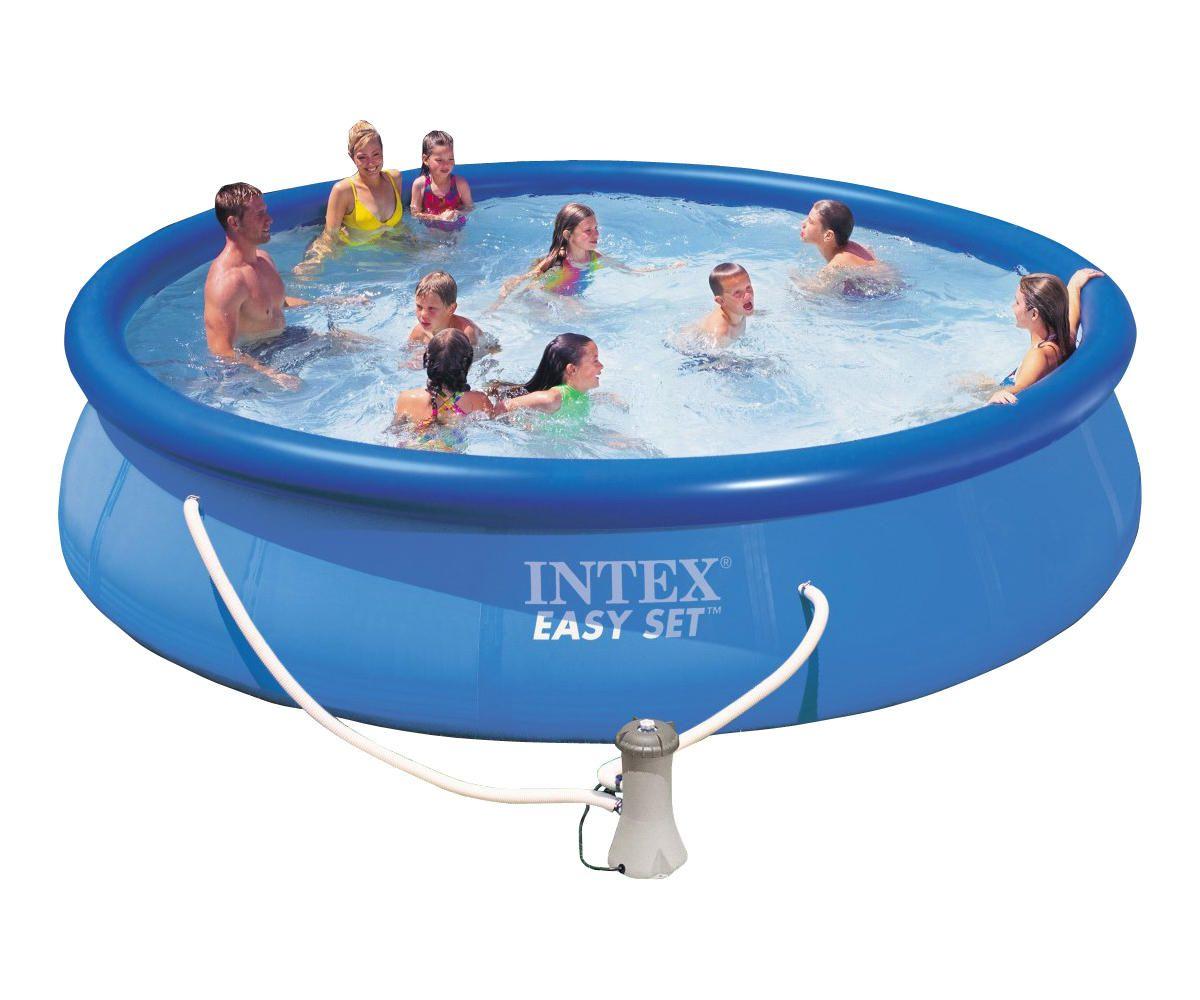 Надувной бассейн Intex Easy Set 28162/56412 457x91 см + фильтр-насос, картриджный фильтр