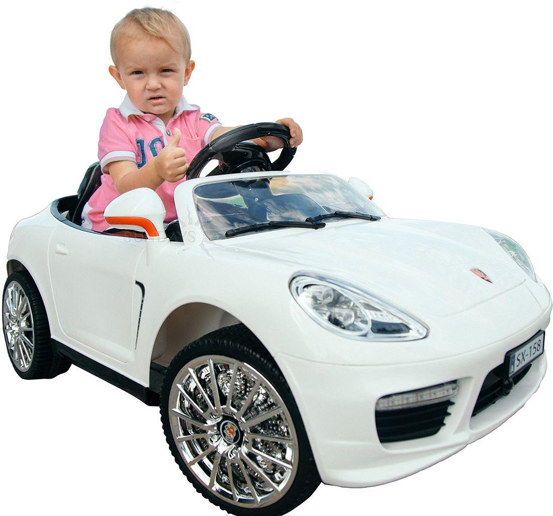 Детский электромобиль Porsche 911 BJX158, цвет белый Sundays