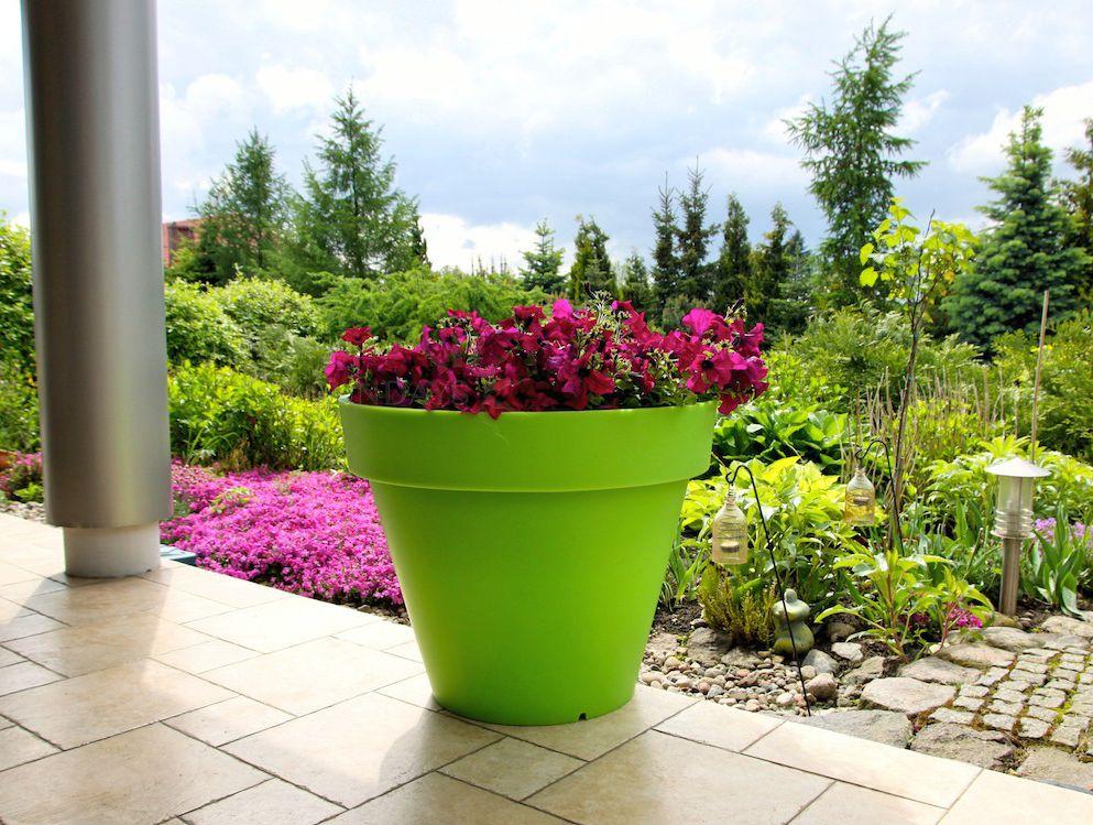 Купить Вазон-горшок садовый PD CONCEPT Saturn PL-SA55, цвет зеленый