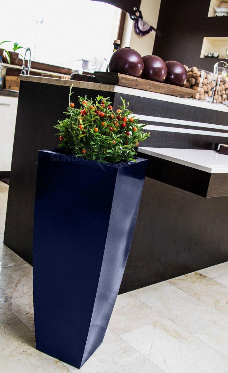 Купить Вазон-горшок садовый PD CONCEPT Juno PL-JU75-PD, цвет синий