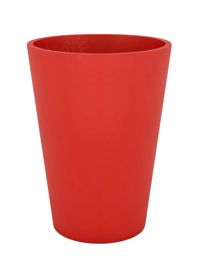 Купить Вазон-горшок садовый PD CONCEPT Uran PL-UR60-PD, цвет красный