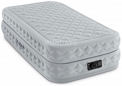 64462 Надувной матрас Intex SUPREME AIR-FLOW AIRBED WITH FIBER-TECH 99х191х51см (Twin)
